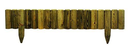 OLG France Lot de 2 Bordures Fixe Verticale, Bois Naturel, 120 x 20/35 cm