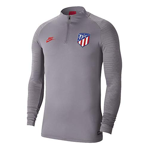 NIKE Dri-Fit Atlético De Madrid Strike Camiseta de Manga Larga, Hombre, Gunsmoke/Thunder Grey/Sport Red, 2XL