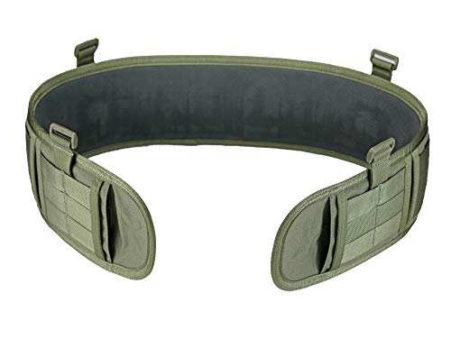 SERT Padded Battle Belt (Combat Belt) Modular MOLLE (Ranger Green, Medium)