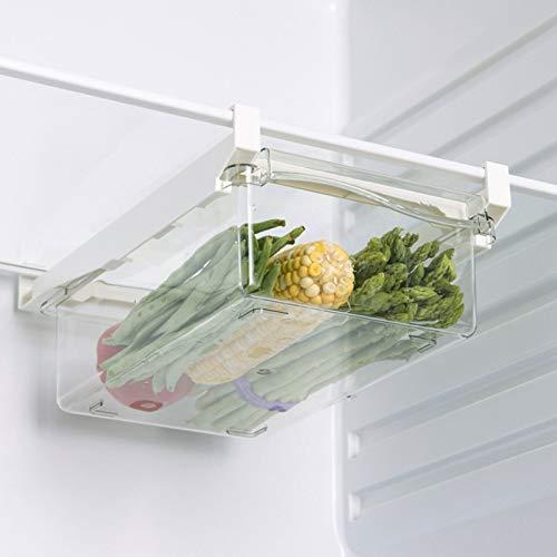 Äggförvaringslåda för kylskåp bärbar korg stor kapacitet grönsaker ägg frukt hållare klämma hängande låda (för frukt)