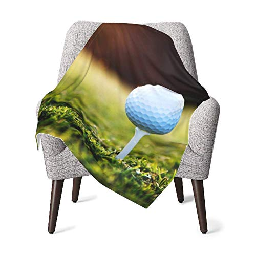 XCNGG Mantas para bebés edredones para bebésGolf Balls On The Grass in The Morning Baby Blanket All Season, Super Soft Warm Cozy Blanket for Infant, Newborn or Kid, Receiving Blanket for Crib, Strolle