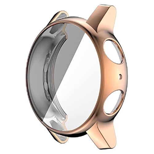 Funda compatible con Motorola Moto 360 3ª generación reloj ultra fino TPU plateado protector de pantalla a prueba de golpes, carcasa para reloj Moto 360 3ª generación