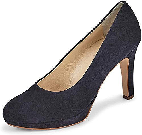 Paul Green 2634 Damen Pumps aus Veloursleder mit 85-mm-Abatz Lederinnensohle, Groesse 41 1/2, blau