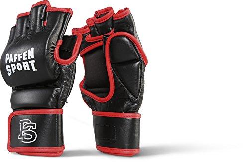 Paffen Sport Contact Grappling MMA-Handschuhe für Krav MAGA, Wing Tsun, Selbstverteidigung etc; schwarz/rot; GR: L/XL