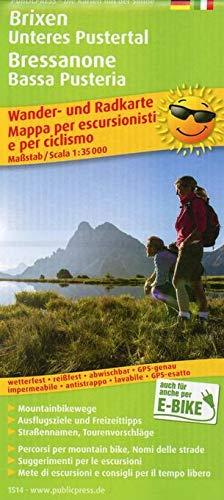 Brixen, Unteres Pustertal / Bressanone, Bassa Pusteria: Wander- und Radkarte mit Ausflugszielen & Freizeittipps, wetterfest, reißfest, abwischbar, GPS-genau. 1:35000 (Wander- und Radkarte: WuRK)