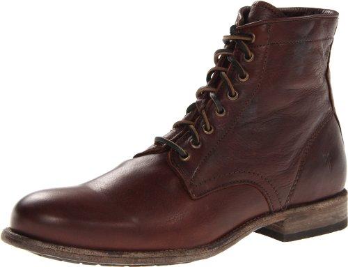 FRYE Men's Tyler Lace-Up Boot Dark Brown 7.5 M US