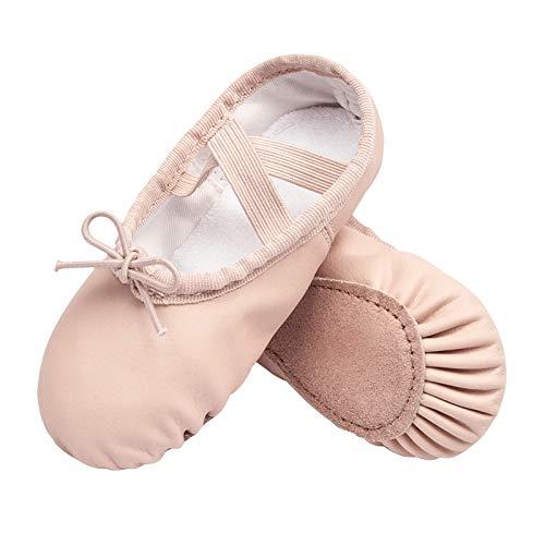 STELLE Girls Ballet Dance Shoes Slippers for Kids Toddler (Ballet Pink New, 9MT)