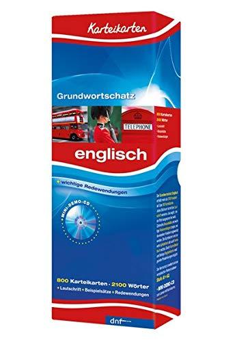 Karteikarten Grundwortschatz, Englisch Niveau A1+A2: 800 Karteikarten. Über 2100 Stichwörter. Mit Lautschrift