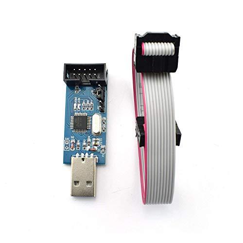 ARCELI 51 AVR ATMEGA8 Programador USBasp ISP 10 Pin USB Programador 3.3V / 5V con Cable