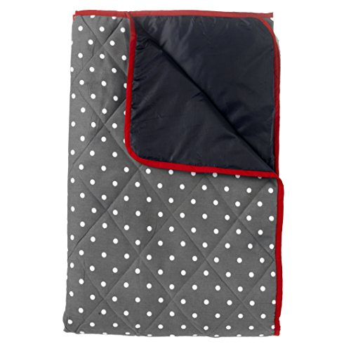Just a Joy - Extra große Picknickdecke - Wasserdicht - Gepolstert - Anthrazit/Dunkelgrau - 140x180cm (gepolstert)