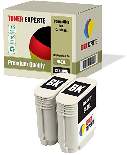 2 XL TONER EXPERTE Sostituzione per HP 940XL 940 XL C4906AE Cartucce d'inchiostro compatibili con HP Officejet Pro 8000, 8000 Wireless, 8500, 8500 Wireless, 8500A, 8500A Plus (2 Nero)