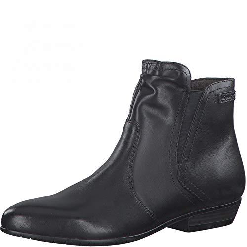 Tamaris Damen Stiefeletten, Frauen Ankle Boots, reißverschluss weiblich Ladies Women's Women Woman Freizeit leger Stiefel Lady,Black,38 EU / 5 UK