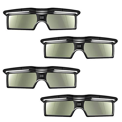 Docooler 4Pcs G15-DLP 3D Aktive Shutter Brillen 96-144Hz für LG/BENQ/ACER/Sharp DLP Verbindung 3D Projektor