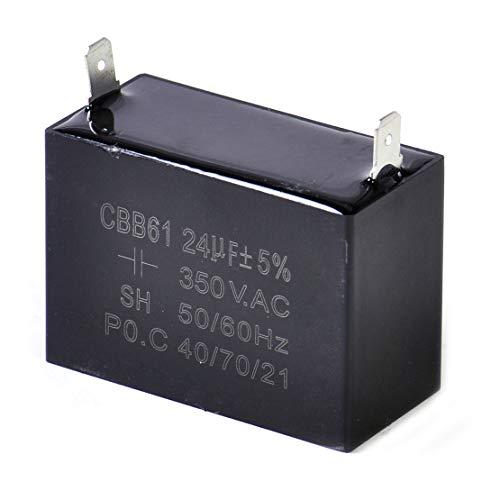 Condensador de funcionamiento CBB61, 350 V CA, 24 uF, para ventilador de techo