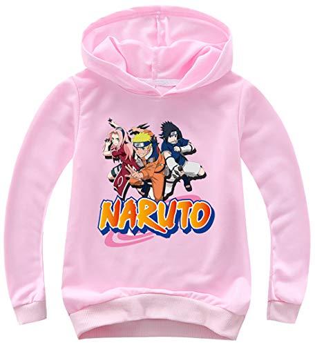 Silver Basic Sudadera con Capucha Unisex de Naruto para Niños y Niñas...