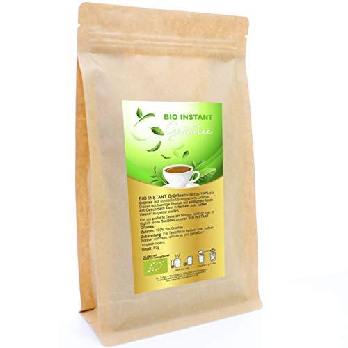 Original Bio Instant Grüntee Biologisch und fair gehandelt 100% hochwertiger 80g Packung Grüner Tee heiß oder kalt sofort löslich ergibt 100 Tassen