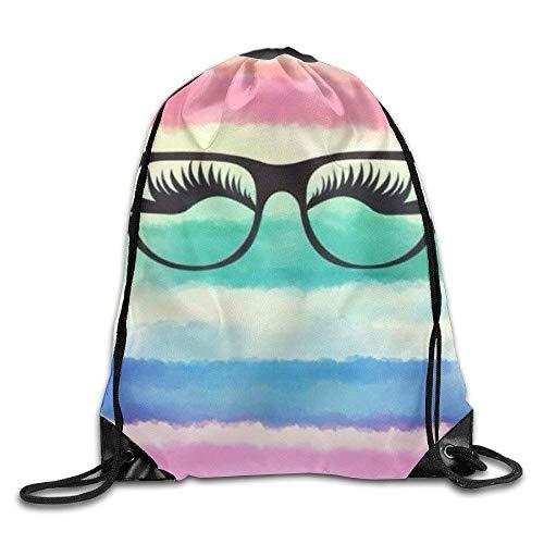 uykjuykj Bolsos De Gimnasio,Mochilas,Rainbow Drawstring Bag Sport Gym Backpack Gym Bag Men Women Lightweight Unique 17x14 IN