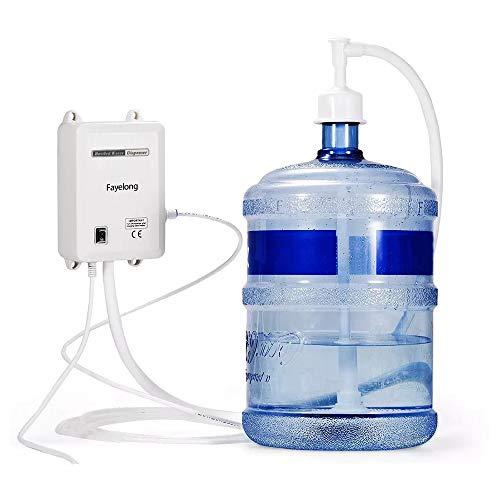 Fayelong - Sistema de bomba de agua de 220 V para botellas de 5 gas, compatible con cafeteras de café/té, dispensador de agua, frigoríficos y máquinas de hielo (tubo único)