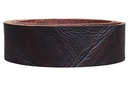Wasserbüffel Lederriemen 'Crunch', rustikales Gürtelleder, ca, 3,6mm dick, Breite:3cm, Farbe:rotbraun