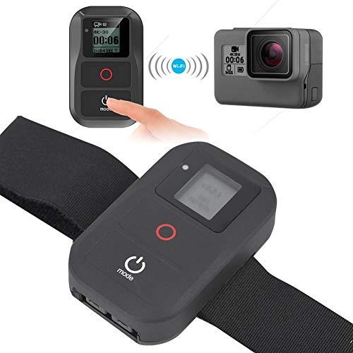 Topiky afstandsbediening voor GoPro, waterdichte draadloze WiFi-afstandsbediening met LCD-digitaal beeldscherm en armband voor GoPro Hero6/5/Session/4/3