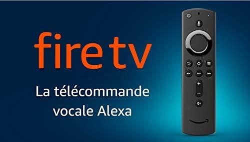 Télécommande vocale Alexa pour Fire TV, avec boutons Marche/arrêt et Volume, requiert un appareil Fire TV compatible