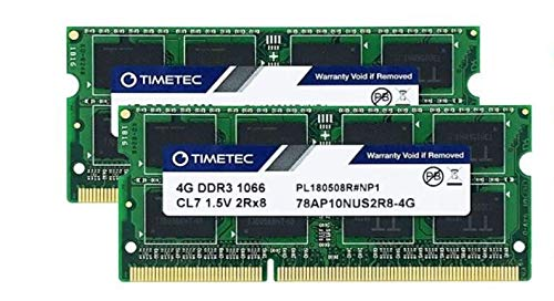 Timetec Hynix IC 8GB Kit (2x4GB) DDR3 PC3-8500 1066MHz memory upgrade for iMac, MacBook Pro, Mac mini (8GB Kit (2x4GB))