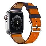 Bucle de cuero para Apple Watch Band 6 SE Band 40mm 44mm Correa de pulsera para iWatch 5 4 31 Single Tour 38mm 4mm Correa