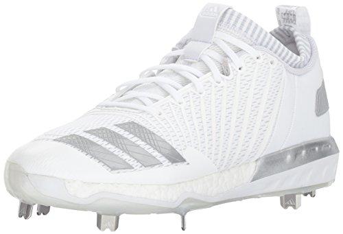 adidas Herren Freak X Carbon Mid Baseballschuh, Weiá (Weiß/Metallic-Silber/Hellgrau), 47 EU
