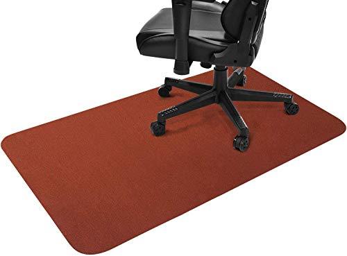 Gtracing チェアマット 床保護マット カーペット ラグ ゲーミングチェアマット ずれない デスクマット 傷防止マット 床マット大型 防音 洗える ISSA認証抗菌防臭 120CM*90CM*2mm (ブラウン)