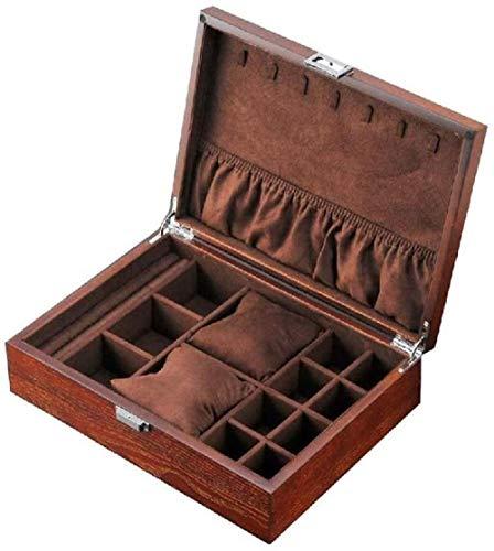 Joyería-caja de joyería para mujer organizador de joyas para pendientes, pulseras, anillos, cajas de joyería de cuero de la PU caja de almacenamiento vitrina sostenedor de la joyería estilo 2