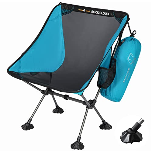 Rock Cloud Portable Camping Chair Ultralight Folding Chairs Outdoor with Oversize Mesh and Anti-Slip...