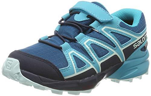 Salomon Kinder Trail Running Schuhe, SPEEDCROSS CSWP K, Farbe: hellblau/marineblau (Lyons Blue/Bluebird/Navy Blazer), Größe: EU 27