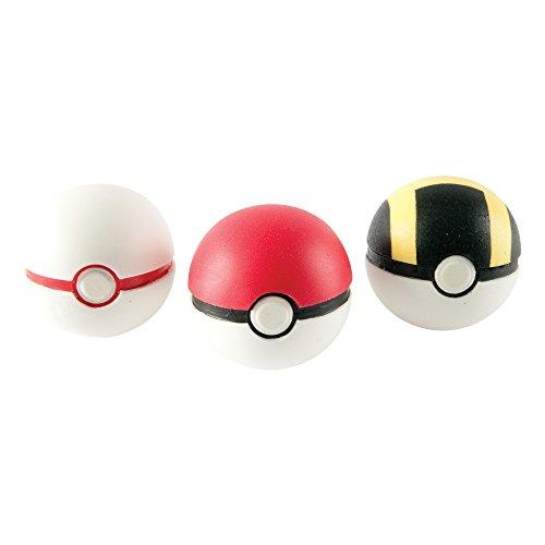 TOMY Pokémon – 3er Pokéball Set – hochwertige Pokébälle aus Schaumstoff – Spielzeug für Kinder ab 4 Jahre (Sortiert)