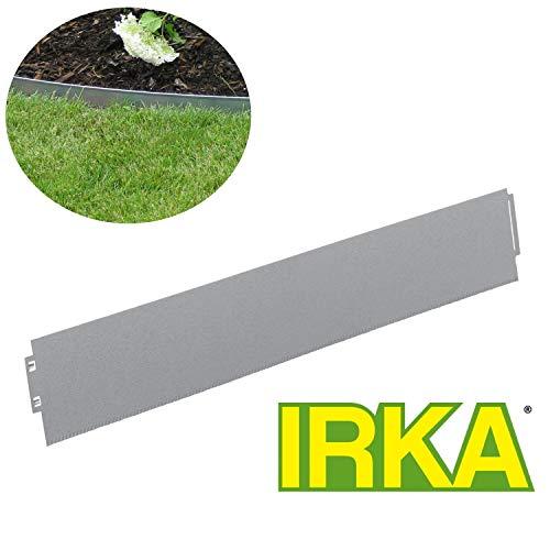 IRKA Rasenkanten aus Alu/Zink mit extra Versteifungskante und klick-System schmal 18 cm hoch 10 Meter