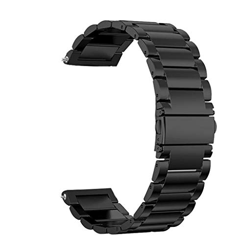 Für Fossil Gen.5 Armband Metall,Colorful Solid Edelstahl Ersatzarmband Uhrenarmband Replacement Wechselarmband Watch Band für Fossil Gen.5 Smart Watch (Schwarz)