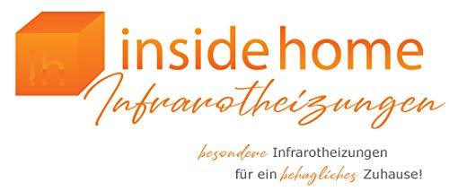 insidehome | Infrarotheizung Glasheizung ELEGANCE Classic H | Glas rahmenlos | ergänzbar mit bis zu 3 Handtuchhaltern | Farbe: weiss | 550 Watt – 130 x 40 x 1,8 cm Bild 3*