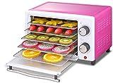 TXOZ-Q Máquina de deshidratador de alimentos □ Professional Multi Preserver, Secador for frutas, verduras y carne con temporizador de control de temperatura ajustable y 5 bandejas apilables