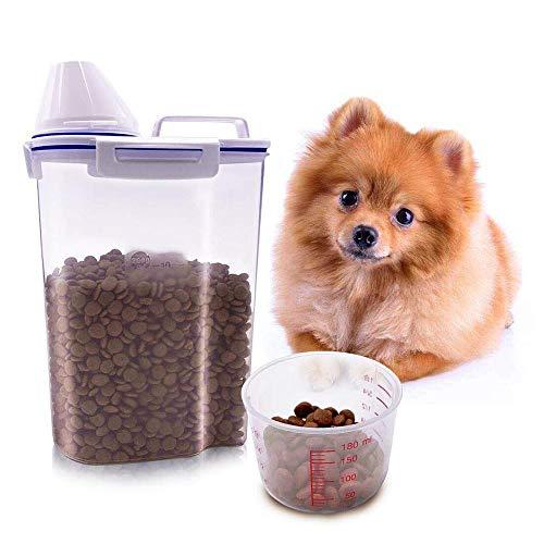ZGHYBD con Flip Lid And pour Spout Pet Food Container, Fresh...