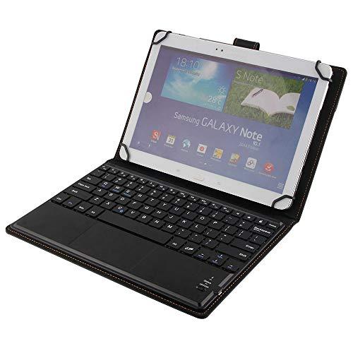 SCIMIN Custodia universale in pelle per tablet da 10', tastiera per Asus Memo Pad Smart 10, custodia in pelle sintetica con tastiera Bluetooth (mouse TOUCHPAD) per Asus Memo Pad Smart 10