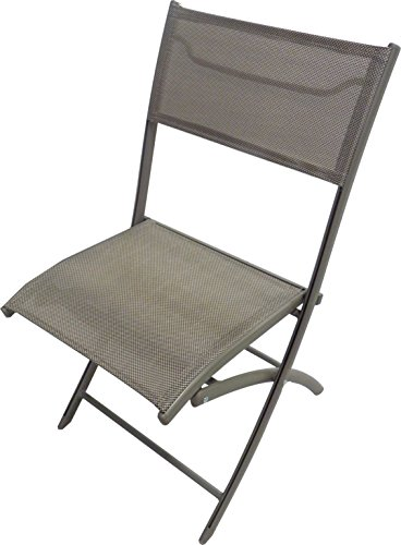 DCB GARDEN C43-CAPPUCCINO Chaise Pliante alu textilène Cappuccino, 46x40x82 cm