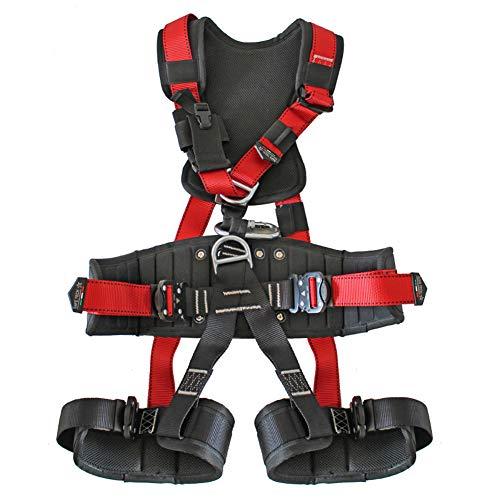LXYYSG Klettergurt, Verstellbaren Auffanggurt, Sitzgurt Klettern, Absturzsicherung Taille Schutz Sicherheitsgurt, für Outdoor Bergsteigen Alpinklettern Sportklettern Feuerwehr Baumklettern Klettern