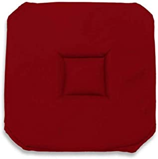Soleil d'ocre Cojín para Silla gobelin 40x40 cm Alix Rojo