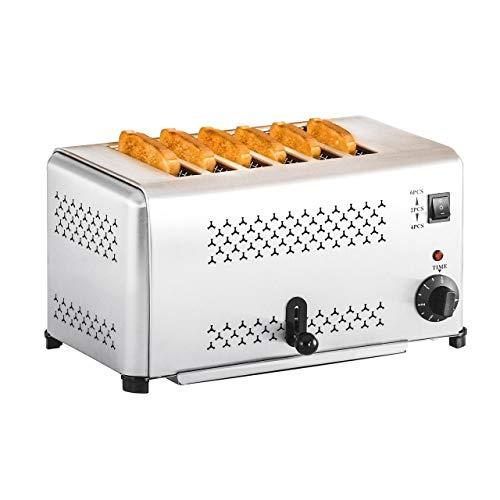 Royal Catering - RCET-6E - Tostadora Industrial para 6 rebanadas - 2.500 W