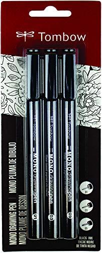 Kit Mono Drawing, Canetas para Desenho e Artes, Blister com 3 Canetas Sortidas, 0,1, 0,3 e 0,5 mm