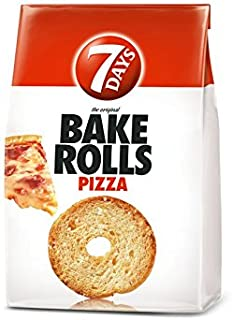 7 Days Bake Rolls From Greece with Pizza Flavor - 10 Packs X 160g (5.7 Ounches Per Pack)