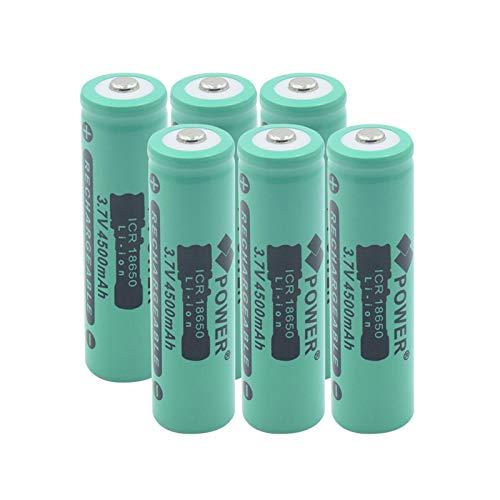 RitzyRose Batería De Iones De Litio De M26 18650 3.7v 2600mah 10a, Alto Drenaje Recargable para Linterna LED 1PCS
