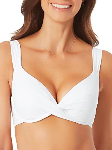 Anne Cole Women's Standard Underwire Bikini, White, 36B/34C