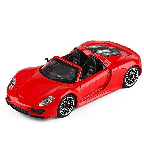 Xolye 01.32 Sound and Light Pull Back-Spielzeug-Auto-Kinder Alloy Anti-Sturz-Spielzeug-Auto Boxed-Spielzeug-Auto-Geschenk-Verzierung Sammlung Open Door Convertible Sports Car Racing Spielzeug