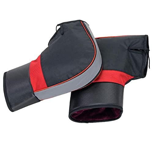 HE TUI Guantes para Manillar De Motocicleta, Guantes Térmicos para Manillar De Protección Impermeable Al Aire Libre con Tira Reflectante