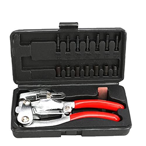 LAANCOO Perforadora alicates Herramienta de Mano de múltiples Funciones de Acero de Perforaciones Alicates Kit para reparación Decorativa 16PCS Rojo
